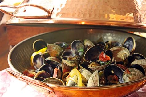 newf   soup clams  chorizo   copper cataplana