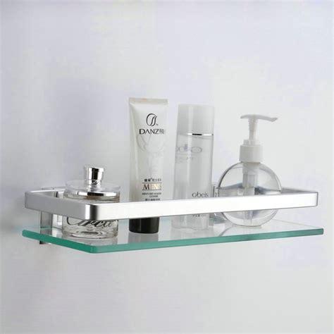 Glass Wall Shelves For Bathroom by Kes Aluminum Bathroom Glass Rectangular Shelf Wall Mounted