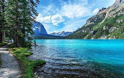 Wallpapers Nature Screen River Laptop Sky Mountains