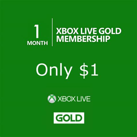 month xbox  gold membership