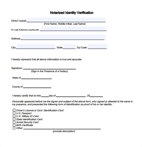7+ Sample Notarized Letters  Pdf, Word  Sample Templates