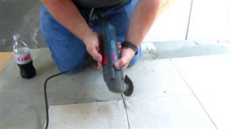 bosch mxe multi tool removing floor grout youtube