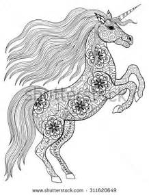 Unicorn Animal Coloring Pages for Adults