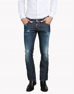 Dsquared2 Sexy Crop Boot Cut Jeans - 5 Pockets for Men | Official Store