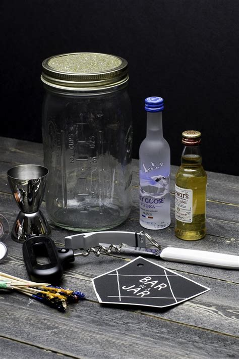 hometalk bar   jar gift idea  men