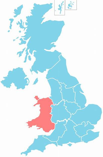 Wales Bbc Wikipedia Cymru Regions Highlighted Wiki