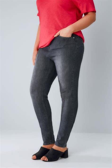 grey denim skinny shaper ava jeans  size