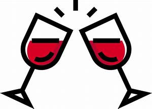 Wine Cups Toasting vector clipart image - Free stock photo ...