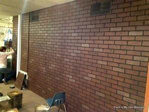 Faux brick paneling from lowes hmmmm home decor for Kitchen cabinets lowes with basement wall art ideas