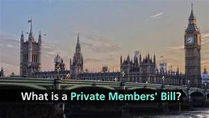 What is a Private Members' Bill? - YouTube