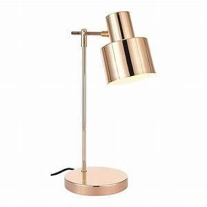 Lampe Rose Gold : gold midas metal desk lamp contemporary table lights ~ Teatrodelosmanantiales.com Idées de Décoration