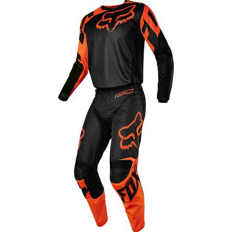 orange motocross gear fox racing 2017 mx new 180 race black orange jersey pants