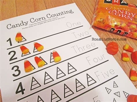 Candy Corn Counting Math Worksheets {Free Printables