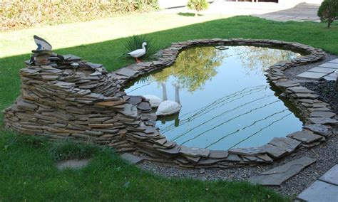 Garden Pond Ideas, Diy Garden Pond Ideas Simple Small Pond