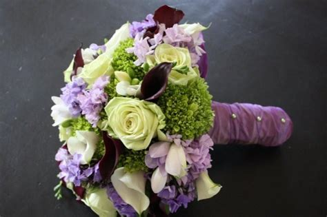 green with purple flower gorgeous purple and green wedding flowers