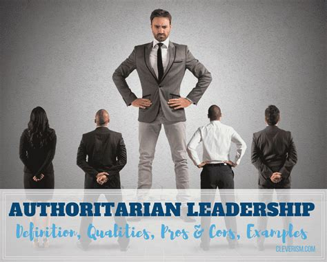 authoritarian leadership guide definition qualities