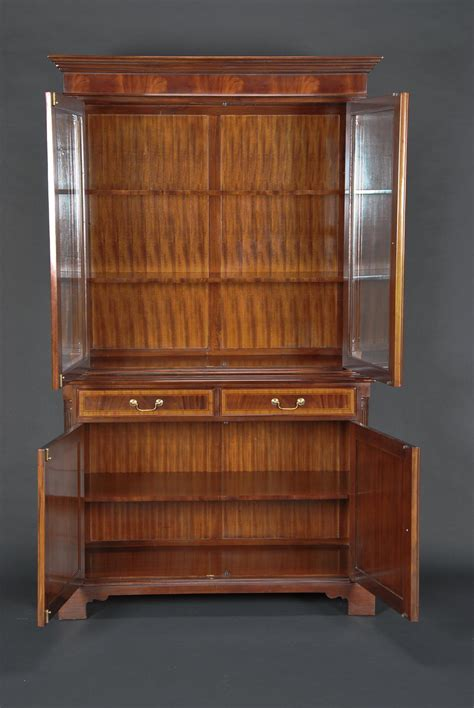 high end storage cabinets high end mahogany two door china cabinet ebay