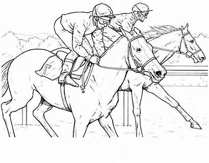 Horse Coloring Pages Horses Racing Race Breyer