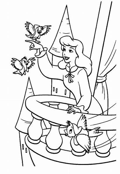 Coloring Cinderella żrodło Colouringdisney