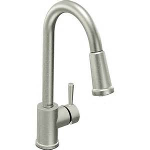 moen 7175csl level one handle high arc pulldown kitchen faucet classic stainless overstock