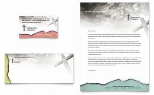 Bible church business card letterhead template word for Church business cards templates free