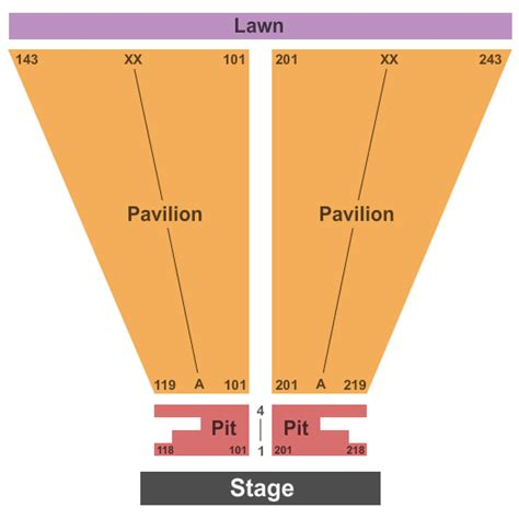 michigan concert  seating chart meadow brook