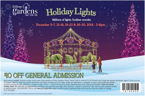 gilroy gardens coupons deals and discounts for east bay families 510 families