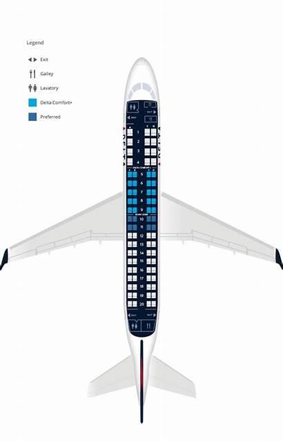 175 Embraer Delta Skywest Seat Compass Erj
