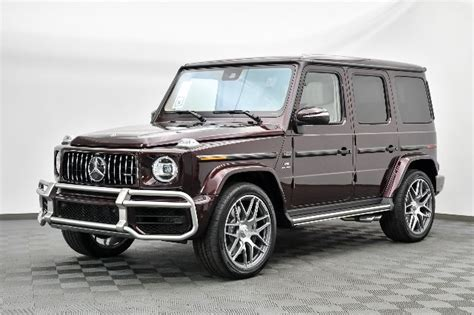 It is available in 17 colors, 1 variants, 1 engine, and 1 transmissions option: New 2021 Mercedes-Benz G-Class AMG® G 63 SUV AWD in Laguna Niguel #M17153 | Mercedes-Benz of ...