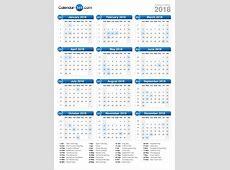 2018 Calendar printable calendar templates
