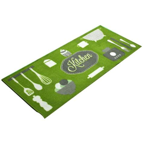 tapis de cuisine tapis de cuisine antidérapant kitchen vert achat vente