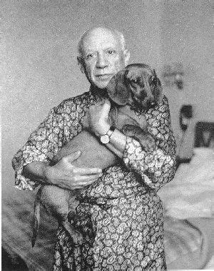 Picasso with dachshund | Dachshund love, Dachshund lovers