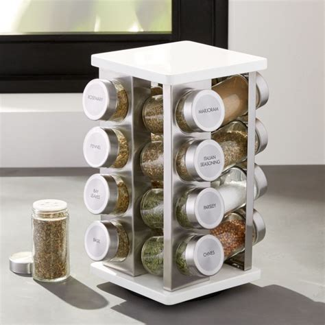 Spice Rack Reviews by 16 Bottle White Spice Rack Reviews Crate And Barrel