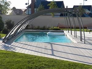 Hivernage Bassin Exterieur : abri bas semi coulissant abrisud equipement piscine seine ~ Premium-room.com Idées de Décoration