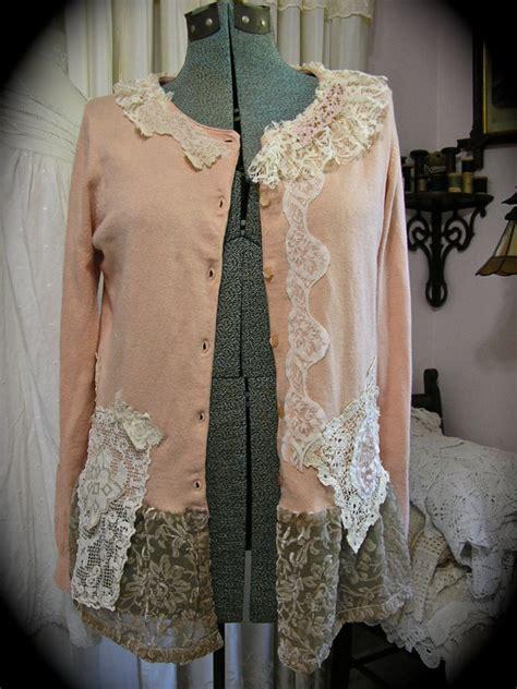 shabby chic clothing uk shabby vintage sweater altered upcycled clothing romantic