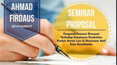 contoh presentasi seminar proposal menarik youtube