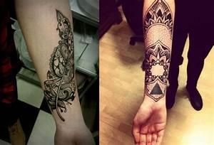 Tattoo Feder Unterarm : 27 unterarm tattoo ideen f r m nner und frauen ~ Frokenaadalensverden.com Haus und Dekorationen
