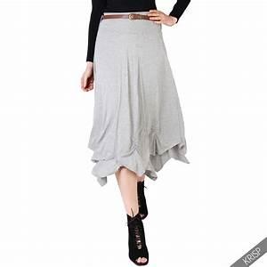 KRISP Femme Jupe Maxi Élastique Hippie Longue Boho Taille