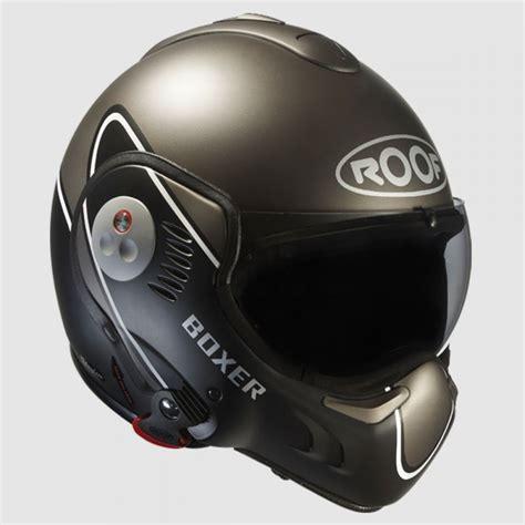 roof boxer v8 devil helmet matt black anthracite flip front helmets the cafe racer
