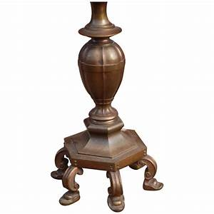 Heavy quot 50 lbs quot bronze torchiere floor lamp europe for Torchiere floor lamp base weight