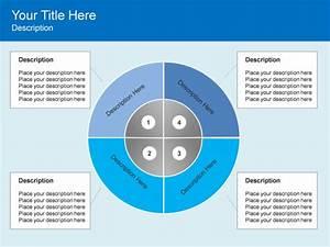 Powerpoint Slide - Cycle Matrix Diagram - Numbers - 8 Blocks - Blue
