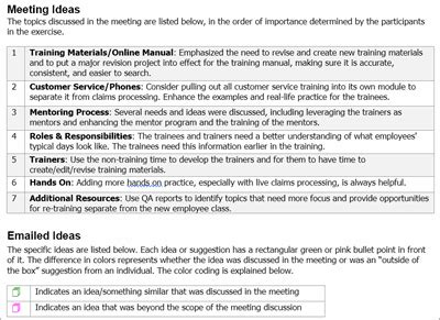 memo template   revisit discussion points