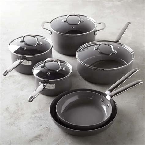 williams sonoma professional ceramic nonstick  piece cookware set williams sonoma