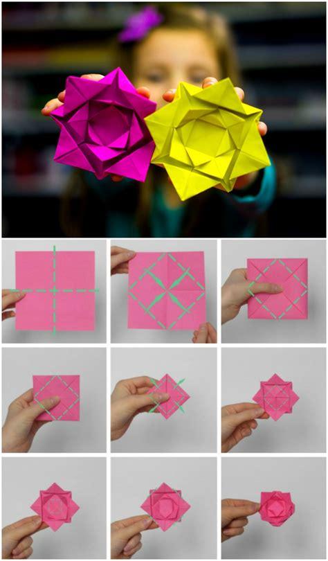 comment faire une fleur en papier 1001 id 233 es de bricolages pour apprendre l de pliage
