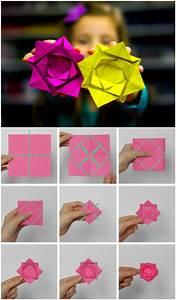 Comment Faire Une Rose En Papier Facilement : origami d 39 une rose ~ Nature-et-papiers.com Idées de Décoration