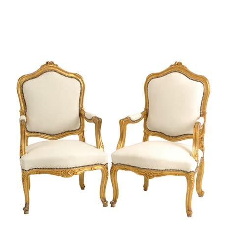 gold white velvet chairs after found vintage rentals