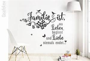 Wandtattoo Sprüche Familie : familie ist wo leben beginnt wandtattoo spruch wandtattoo und autoaufkleber shop ~ Frokenaadalensverden.com Haus und Dekorationen