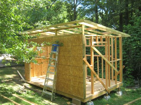 how to build a roof on a shed diy modern shed project diyatlantamodern