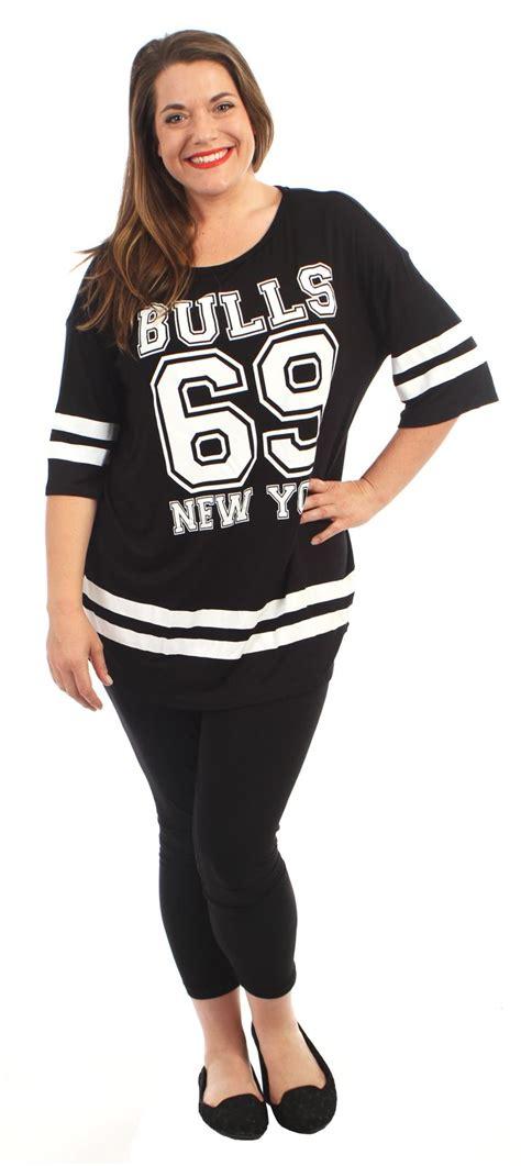 New Womens Over size Varsity 69 Bulls Baggy T-Shirt Tops 8 ...