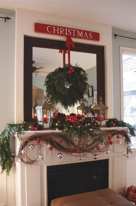 ideas  decorating mirrors   holidays